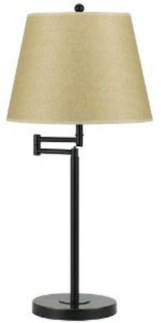 Cal Lighting 150W 3Way Andros Metal Swing Arm Table BO-2077TB-DB Lamp NEW