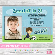 Soccer Player Personalized Party Invitation-personalized invitation, photo card, photo invitation, digital, party invitation, birthday, shower, announcement, printable, print, diy,Soccer Player Personalized Party Invitation, football, game, sports,