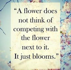 Everyone should have a chance to bloom!