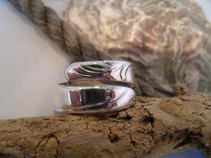 Ring silber, Besteckschmuck, 18 mm, gewickelt von Humlebis Hytte auf DaWanda.com