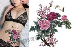 Peony-the-peach-blossom-Flower-tattoo