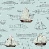 "Found it at Wayfair - Nautical Living Pond Yachts 33' x 20.5"" Scenic Wallpaper"