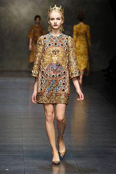 Dolce & Gabbana Walking Works of Art Dress
