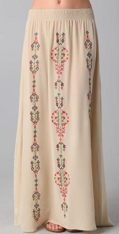 Parker Native Embroidery Skirt - StyleSays