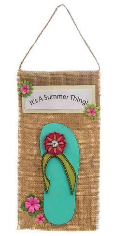 Nicole™ Crafts Flip Flop Sign #kids #craft