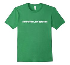 Nevertheless She Persisted Elizabeth Warren Bright Bold Tee