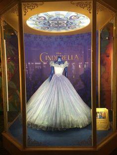 Cinderella Movie Costumes and Glass Slipper at Pre Premiere Reception - Cinderella's Ball Gown
