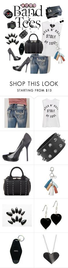 """""""Band tees"""" by ericjen8685 ❤ liked on Polyvore featuring Eos, Rock Revival, Sans Souci, Rock & Republic, Alexander Wang, Rebecca Minkoff, Three Potato Four and Edge Only"""