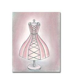 French Shabby Girl Nursery Decor, Vintage Dress Wall Art, Kids Decor Print 8x10, Kids Wall Art, French, Nursery Wall Art