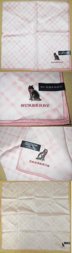 Handkerchiefs 167906: Burberry *Cat Pink-Plaid Scarf Large Handkerchief 58Cm Choromt*33 -> BUY IT NOW ONLY: $35 on eBay!