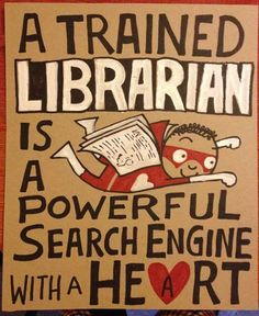 A trained librarian is a powerful search engine with a heart! #books #reading www.OneMorePress.com