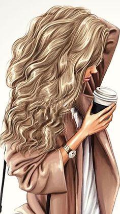 Beautiful Girl Drawing, Cute Girl Drawing, Illustration Mode, Illustrations, Girly Drawings, Cute Girl Wallpaper, Cute Art Styles, Digital Art Girl, Cute Cartoon Girl