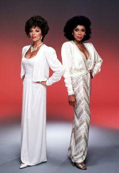 Diahann Carroll and Joan Collins from Dynasty