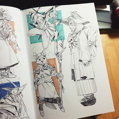 Sketchbook,Early 2015 on behance character design en 2019 art sketchbook, d Sketch Manga, Drawing Sketches, Art Drawings, Drawing Faces, Drawing Tips, Sketching, Arte Sketchbook, Sketchbook Pages, Design Poster