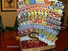 Lottery basket. totally doing this for my kid's 18th birthdays CP
