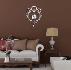 ALVA DIY Mirror circle Wall Sticker Clock fashion wedding room Decorationno.WC42 ** Check this awesome image  : home diy wall