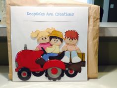 #tractor and hay wagon paper piecing Available at #FourSeasonsScrapInn #morethanabnb #4scrapinn.com