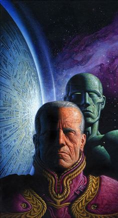 Oscar Chichoni - Cover for The Foundation Series by Asimov (Mondadori, Italy)
