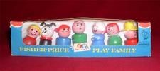 Vintage Fisher Price Little People #663 Wood w/Rivets Play Family NEW in Box 33