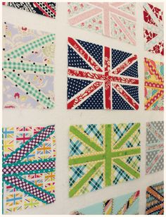 A how-to and links to free patterns for paper piecing a Union Jack block.