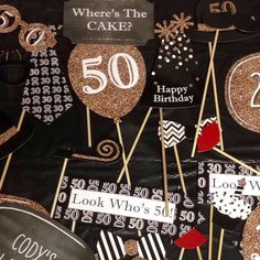 Adult Birthday Party Ideas: 50th Birthday photo booth props from BigDotOfHappiness.com