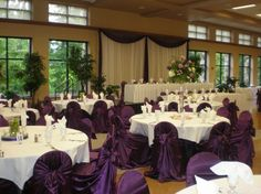 Purple Floor To Ceiling Windows, Small Groups, Banquet, Table Decorations, Purple, Home Decor, Homemade Home Decor, Purple Stuff, Decoration Home