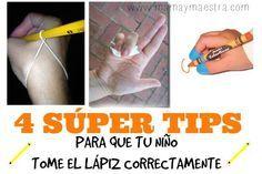 Los niños toman el lápiz de manera instintiva con toda la mano, como si fuera una garra, pues es la forma más fácil de hacerlo cuando son pequeños. Con el tiempo, la observación y la práctica, algu...