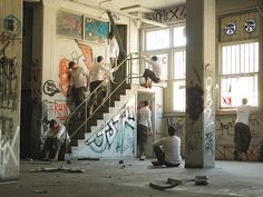 The former life of the Star Printery apartments. Amazing shots of when it was an abandoned warehouse.