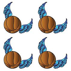 This Winged Basketball Temporary Tattoo features a basketball with blue wings! Our Basketball Wings Tattoos measure approximately 1 inch.