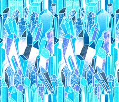 Crystals fabric by jadegordon on Spoonflower - custom fabric