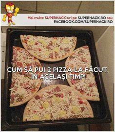 Cum poţi coace 2 pizza in acelaşi timp! - SuperHack.ro