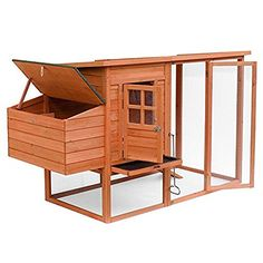 Deluxe 100'' Outdoor Wooden Poultry Hutch Pet House Large Chicken Coop / Hen House w/ Backyard Run