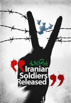 Iranian Soldiers Released.  Graphic Designer : Behrang Namdari