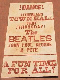 5 January 1961: Live: Litherland Town Hall, Liverpool | The Beatles Bible