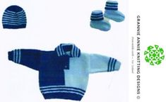 Midget Jumper, Hat and Bootees knitting pattern