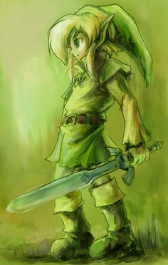 LINK | Art design probably inspired by Oracles games and/or Majora's Mask.
