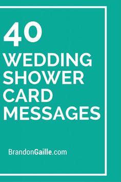 40 Wedding Shower Card Messages