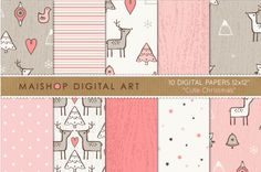 Digital #Paper - Cute #Christmas http://luvly.co/items/5027/Digital-Paper-Cute-Christmas