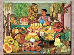 La vendedora de frutas - Olga Costa