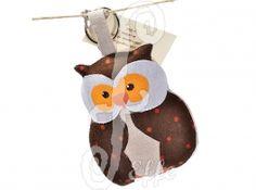 Portachiavi in stoffa a forma di gufo - fatto a mano da Effe Cremona! http://www.effecremona.it