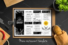 Food menu, bakery flyer #5 by BarcelonaShop on @creativemarket