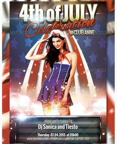 4th of July Flyer Template - Party Flyer Templates For Clubs Business & Marketing
