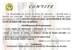RN POLITICA EM DIA: CONVITE: ALAM REALIZARÁ SESSÃO MAGNA DIA 18 DE MAR...