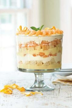 Clementine Trifle with Grand Marnier Sabayon gives meals a sweet ending. (Fresh Market)