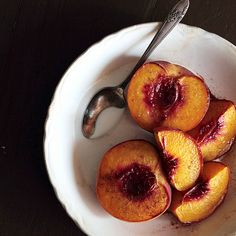 Maple Roasted Peaches with Coconut WhippedCream - Home - Pastry Affair
