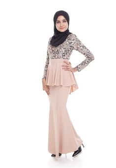 Seri Maharani Kurung Modern Peplum - Nude from Seri Maharani in Beige Kurung Modern Peplum is the latest collections from Seri Maharani made of a very high quality, comfortable to wear, and very nice Lace and Most crepe material. With perfect tailor made. ... #bajukurung #bajukurungmoden