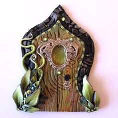 The Green Fairy Fairy Door Pixie Portal Absinthe by Claybykim, $25.00