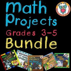 Math Projects, This bundle contains all of my math projects to date. Great for early finishers or as a take home activity your students will love!