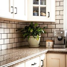 Thanks House of Fraser Decor~ http://houseoffraserdecor.com  for the image & great kitchen design. The chunky, contrasting grout line adds such interest to basic subway tiles.  Great work David at our Hamilton Mountain store;)