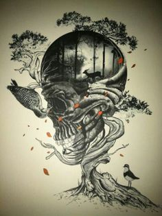 Tattoo inspiration... Skull Tree